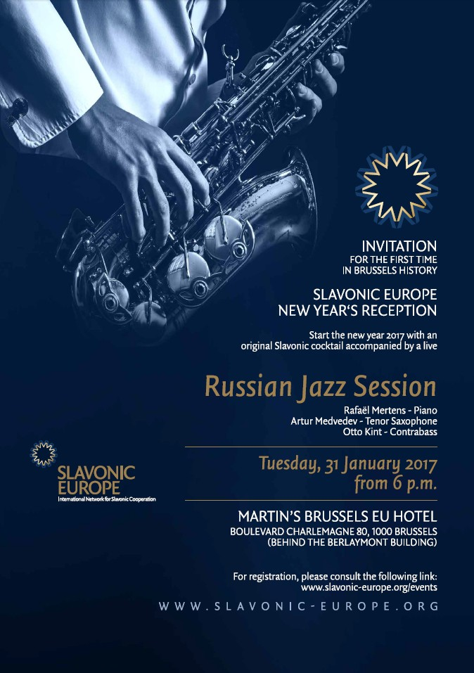 Plakat Slavonic Europe New Year's Reception MARTIN'S BRUSSELS EU HOTEL